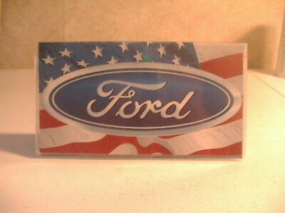 Ford with american flag Vinyl Checkbook cover