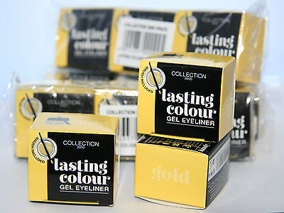 12 x Collection Lasting Colour Gel Eyeliner | Gold & Teal  | RRP £60 | Wholesale