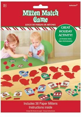 MITTEN MATCH CHRISTMAS KIDS PARTY GAME Festive Fun Childrens Party Game 215397