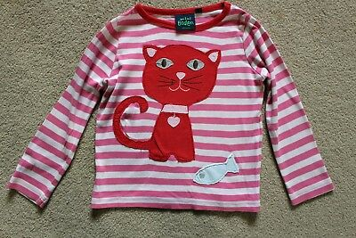 Mini Boden Girls Long Sleeve Cat Top age 2 to 3