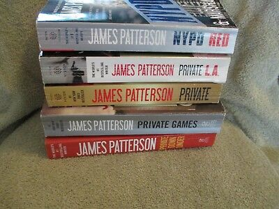 Lot 5 James Patterson P/B Private series & NYPD Red