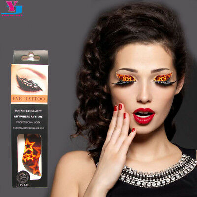 Women Zebra Black white Crystal Eye Temporary Tattoos  Lid  EyeShadow Brow