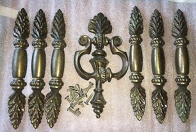 Set of 7 Vintage Keeler Brass Co.  Drawer Pulls Handles N7776