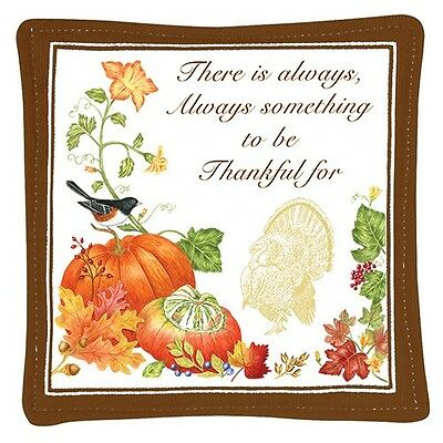Alice's Cottage Cotton Scented Spiced Mug Mat Coaster Holiday Harvest Thankful