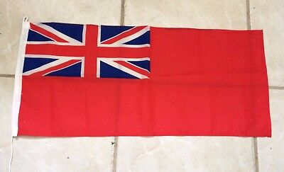 "FLAG Red Ensign 25"" x 11"" Printed No toggle but has a upper loop & lower lanyard"