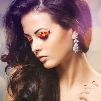 Red Hearts Yellow  Eye Liner Temporary Tattoo Stickers Shadow Makeup Under