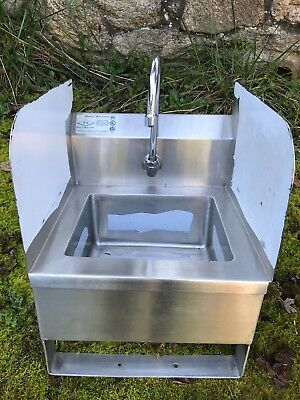 Wall-Mount Stainless Steel Heavy Gauge Hand Sink without faucet