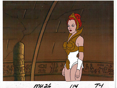 He-Man Masters of the Universe Original Animation Cel & Copy Bkgd #A23756