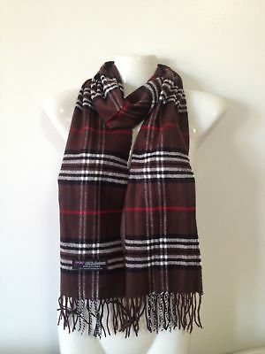 Wholesale 12Pcs 100% Cashmere Scarf Made In Scotland Plaid Brown Super Soft