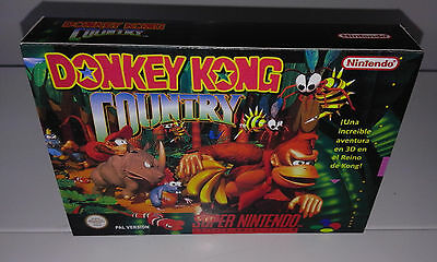 Donkey Kong Country (Snes) (Caja + Interior) (Only Box)