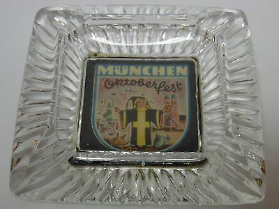 Antique Vtg 1950s MUNICH GERMANY MUNCHEN OKTOBERFEST BEER ADVERTISING ASHTRAY