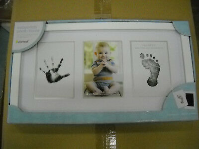 New Born Baby Photo Print Frame Pearhead Clean Touch Ink Pad Included White