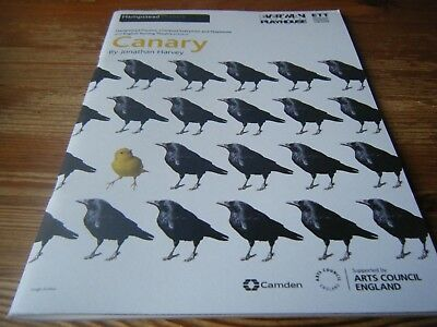 2010  - Theatre Programme -  Canary  -  At The  Hampstead  Theatre   Vgc