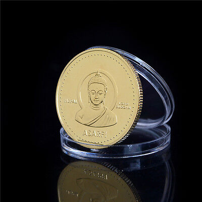 1PC Gold-plated Coin Nepal Buddha Commemorative Coin Collection Gift Hot! WL