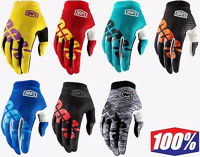 2018 100% Itrack Motocross Gloves Enduro Racing Mtb Bmx 100 Percent New Bike