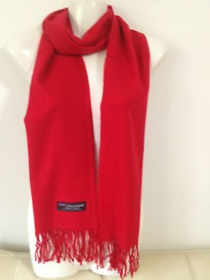 Wholesale 12Pcs 100% Cashmere Scarf Made In Scotland Solid Red Super Soft