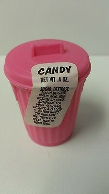 Vintage Fleer candy trash can pink
