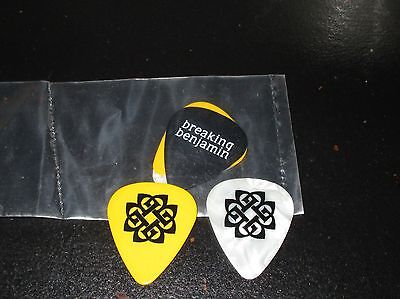 Breaking Bejamin Guitar Pick LOT of 3 SEALED RARE hard rock Finger Death Papa
