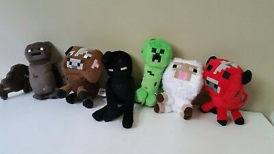 Minecraft Pluses Set Of 6 Preowned