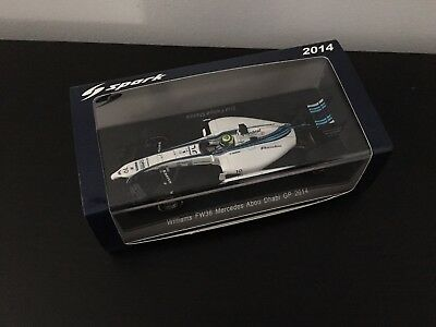 F1 Spark 1/43 - WILLIAMS MERCEDES FW36 FELIPE MASSA ABU DHABI GP 2014