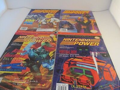 Nintendo power lot 4 form the 1990s. OK condition posters included, star fox