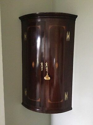 Antique Bow fronted cabinet