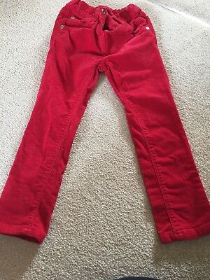 Next Girls Red Cord Jeans Age 3-4 Years
