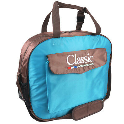 Classic Equine Horse Roper Single Pocket Padded Basic Rope Bag Teal Chocolate