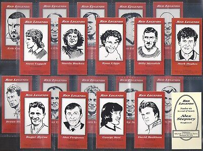 Neill-Full Set- Red Legends (20 Cards) - Football - Manchester United - Exc