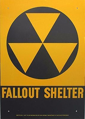 Official Government Issue 1960's Vintage Fallout Shelter Sign