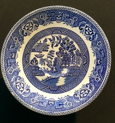 """Old Willow"", Myott, Staffordshire, England, Blue & White Saucer."