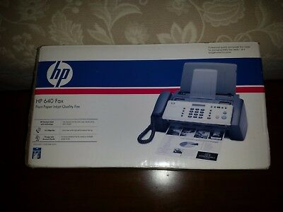 HP 640 Fax Plain Paper Inkjet (BRAND NEW IN OPENED BOX! Never Removed from box.)