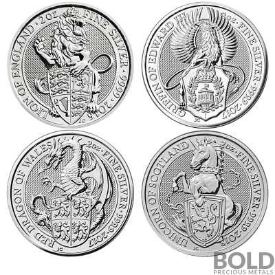 BOLD Set: Britain Queen's Beasts 4 Coin Collector Set