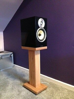 Solid Cherry Wood Speaker Stands RC60 Deluxe, Custom Audio Visual Furniture