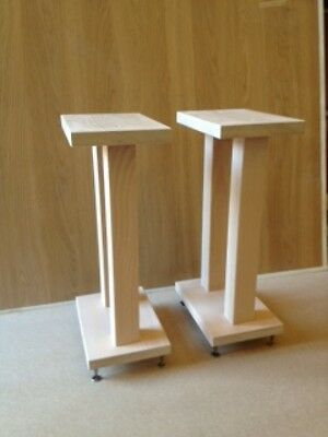 Handmade Solid Maple Speaker Stands With Spiked Feet
