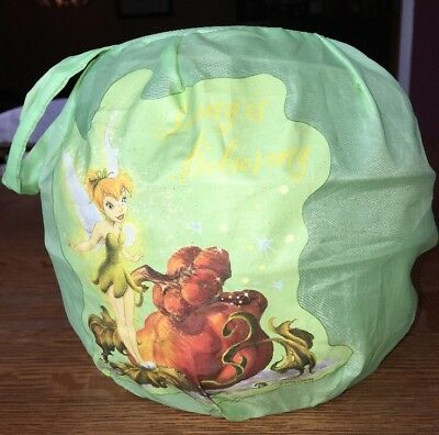 Disney Tinkerbell Fairy Collapsible Trick or Treat Candy Bag Halloween