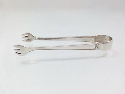 Vintage Westmorland Small Sugar Tongs in John & Priscilla 1940 Sterling Silve...