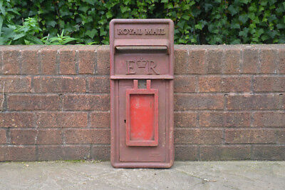 vintage genuine post office post box front pillar box old red letter ROYAL MAIL