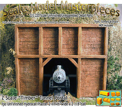 "Z Scale ""Timber"" Tunnel Portal Scale Model Masterpieces Layout *NEW N3PR3"