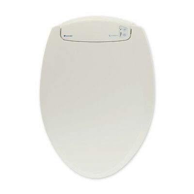 Brondell LumaWarm Heated LED Nightlight Round Bathroom Toilet Seat, Biscuit
