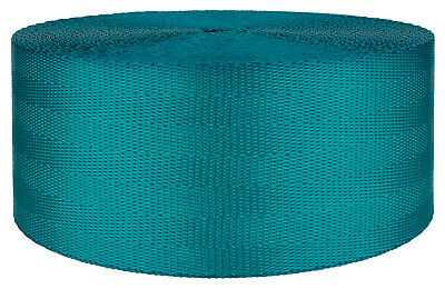 2 Inch Teal Seat-belt Polyester Webbing Closeout, 20 Yards