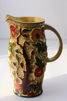 Art Deco H J Wood Pottery - Indian Tree Pattern - Hand Painted Large Jug