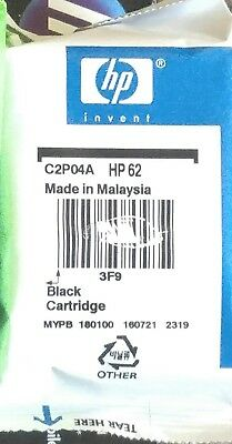 HP T0A52AN 62 Black Original Ink Cartridge - ONE REPLACEMENT CARTRIDGE