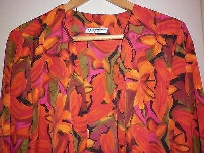 VINTAGE 1980s BRIGHT SUMMER JACKET   SIZE 12/14  EXCELLENT CONDITION