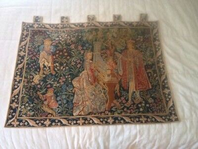 antique wall hanging tapestry french - free shipping