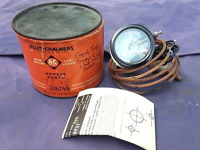 Vintage Allis Chalmers Murphy Safety Switch Temperature Gauge Cable Tractor