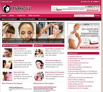ESTABLISHED Makeup Turnkey Website Business For Sale + BONUS(Earn $170/hour)