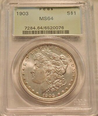 1903 P $1 PCGS MS 64 Morgan Silver Dollar, Better Date Uncirculated Coin OGH