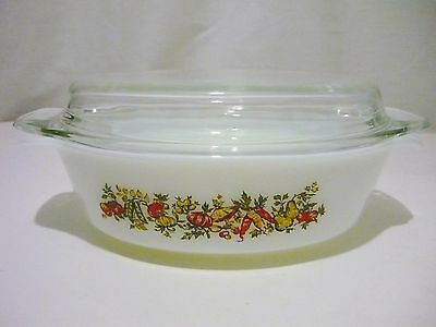Vintage Anchor Hocking Covered Casserole   # 433