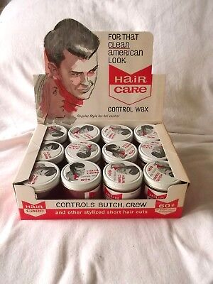 Vintage Sandahl's Hair Care Control Wax. New Old Stock Barber / Beauty Display